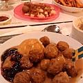 IKEA 的肉丸子(心)和麋鹿義大利麵