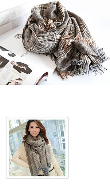 千鳥格圍巾