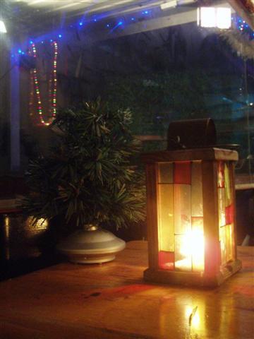 賞夜景桌上的燈