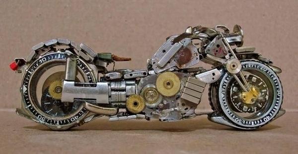 手錶做成的摩托車04