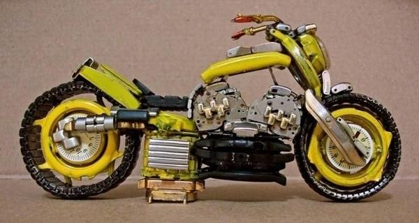 手錶做成的摩托車06