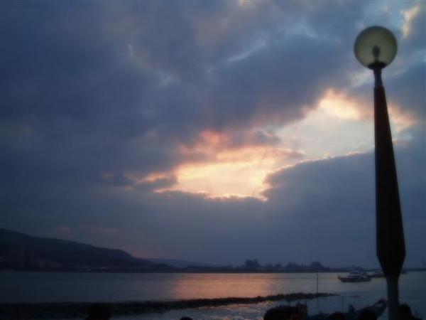 淡水河上空的景