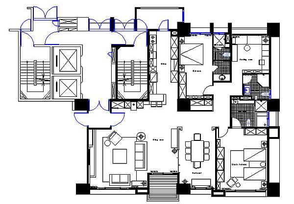 B2棟-13FL設計圖