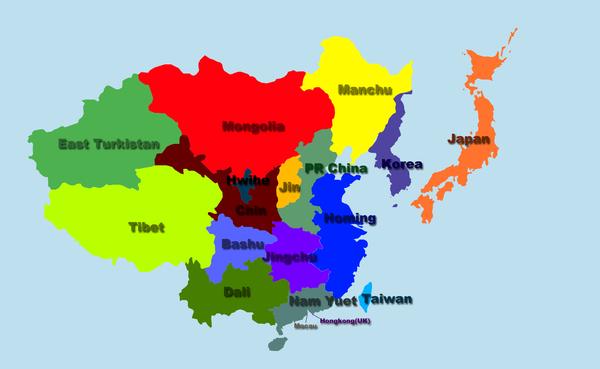 分裂后的东亚地区0000