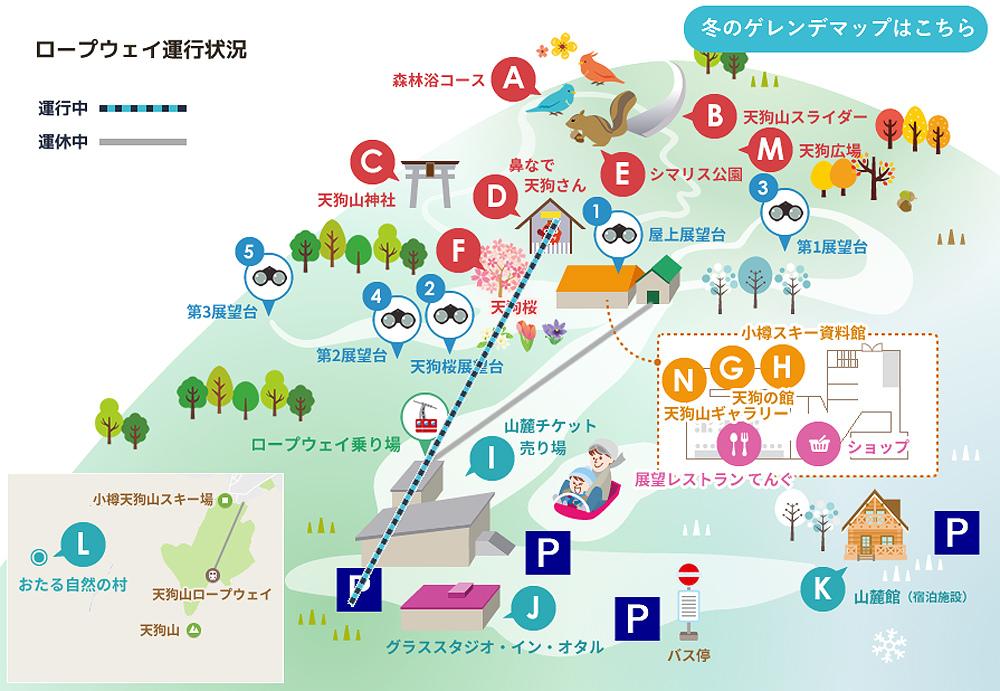 北海道小樽天狗山地圖