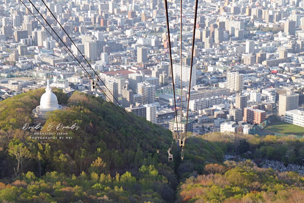 札幌藻岩山白天日景