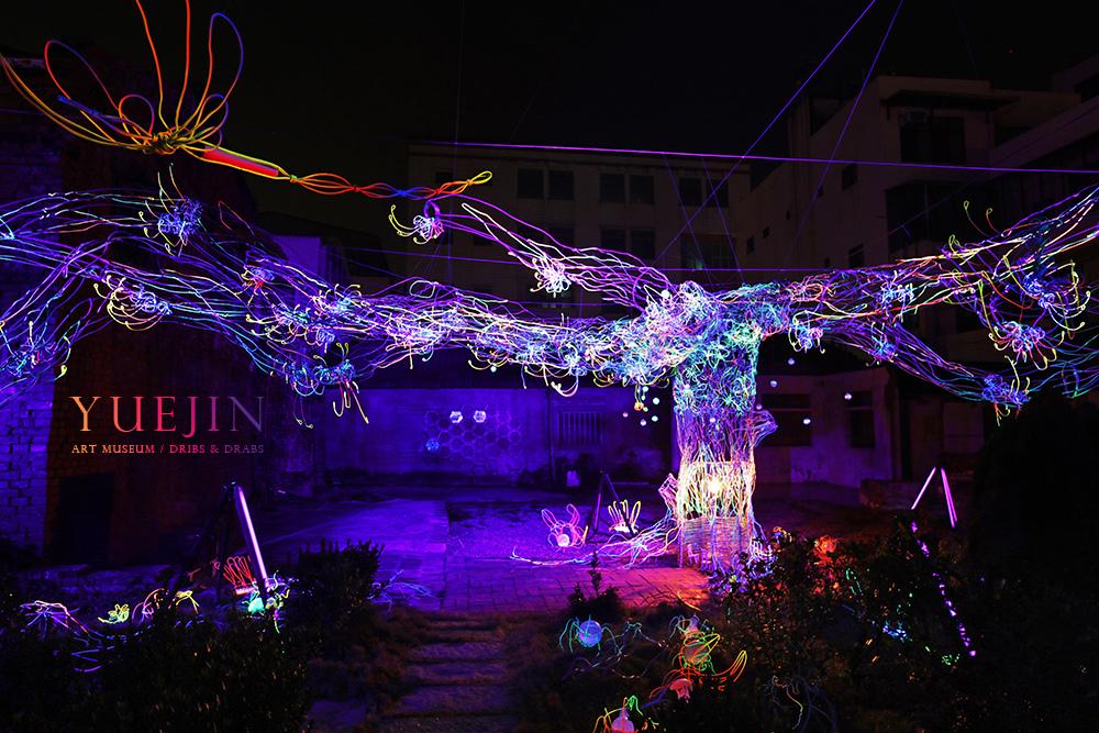 月之美術館月津港燈節流光樹