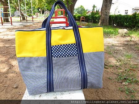 夏日風雙用布包-5
