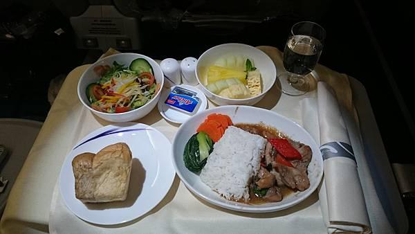 商務艙回程餐點01