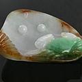 C1285_緬甸玉_白底三彩蚌殼青蟹(王玉民)