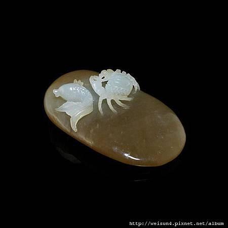 C1571_和闐糖玉_魚蟹