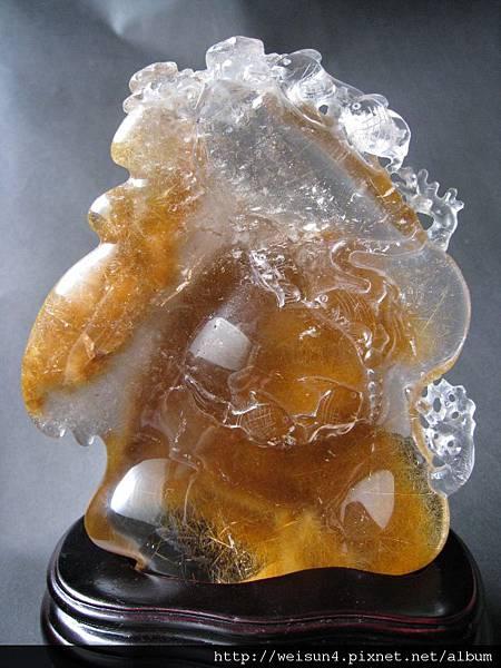 C1322_紅兔毛水晶_海底世界