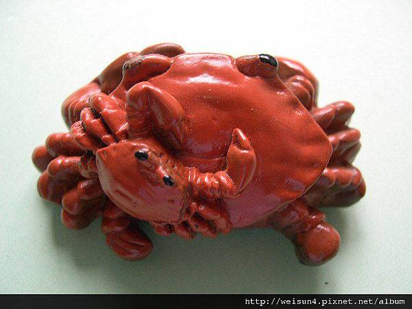 C0047_磁鐵_紅色雙蟹