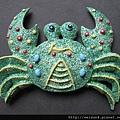 C0463_磁鐵_華麗的綠螃蟹
