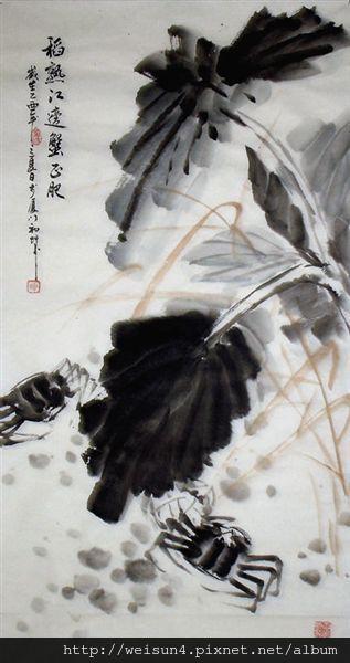 C0783_字畫_稻熟江邊蟹正肥(楊榕城)