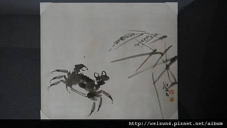 C1851_字畫_國畫_單蟹圖_蔡九五 _書載