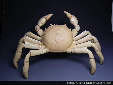 C0431_牙雕_螃蟹一對(松山)