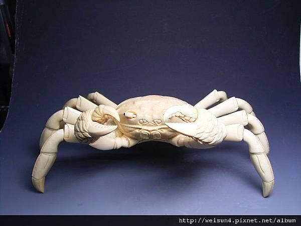 C0431_牙雕_螃蟹一對(松山)_2