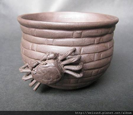 C0641_紫砂蟹簍杯