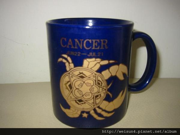 C0644_巨蟹座藍色馬克杯