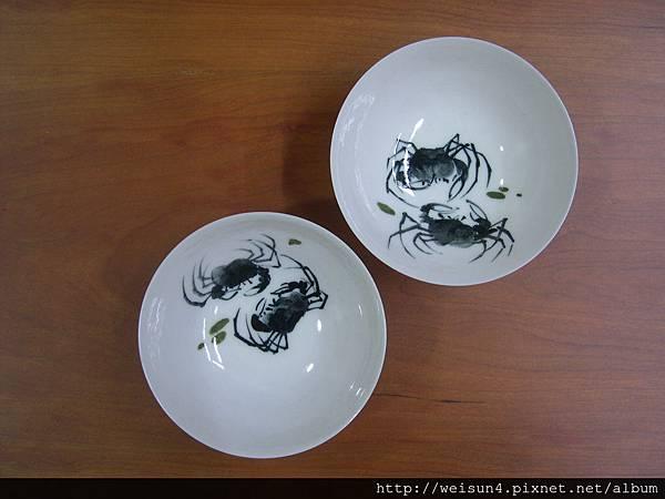 C0768_薄胎螃蟹瓷盤_吉洲窯-許朝宗