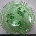 C0934_玻璃螃蟹水果盤_日本昭和