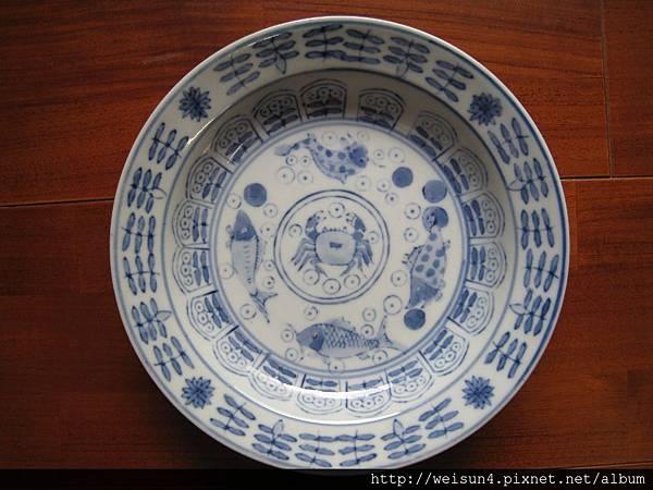 C0953_青花魚蟹盤