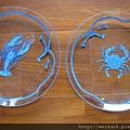 C0973_玻璃蝦蟹對盤_Lynn Chase