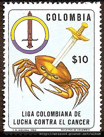 C1501_防癌_Colombia_1980