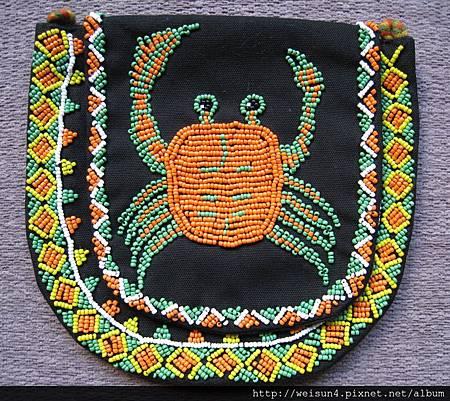 C1015_台灣原住民螃蟹圖案_檳榔袋