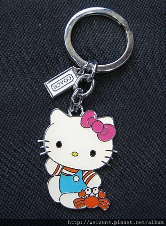 鑰匙圈_C0761_Kitty&小螃蟹_COACH