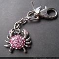 鑰匙圈_C0804_粉紅珠寶螃蟹