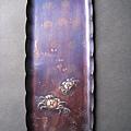 C1327_紫銅茶道螃蟹皿