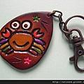 鑰匙圈_C0063_皮革_星星螃蟹