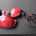鑰匙圈_C0267_皮雕紅螃蟹