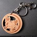 鑰匙圈_C0478_原木巨蟹座
