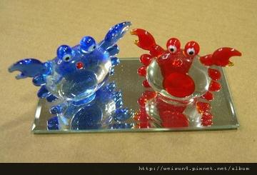 C0513_玻璃雙蟹