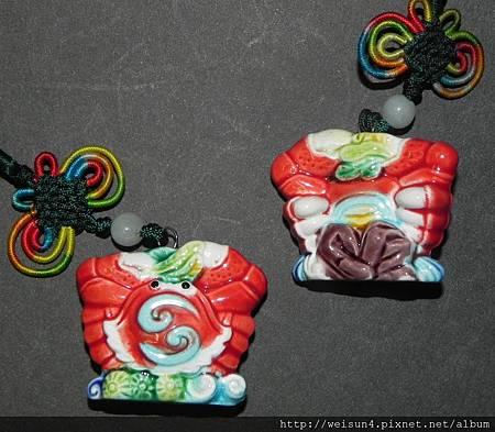C0865_唐三彩_螃蟹吊飾