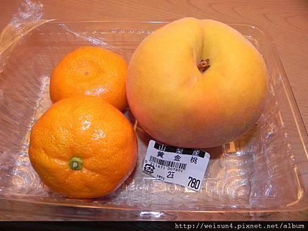 水果_DSCN1103_水果_黃金桃&橘子