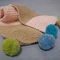 第一條球球圍巾成品
