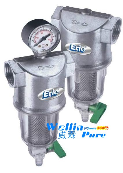 美國伊瑞爾ERIE熱水專用帶錶手動反洗過濾器 AF-100G