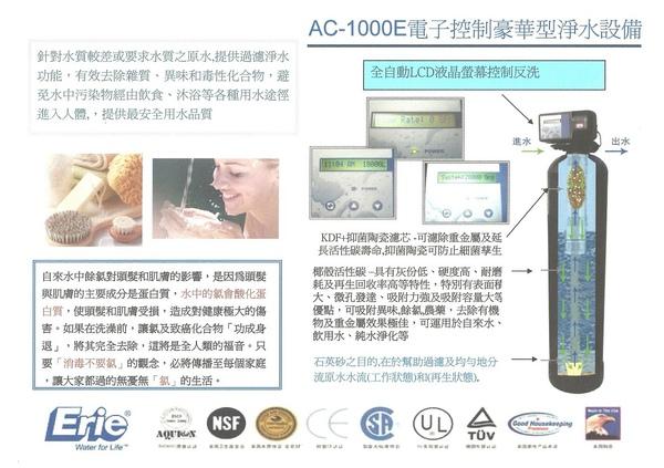 AC-1000E電子控制豪華型淨水設備