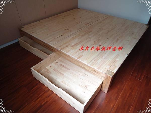 柚木床框架含抽屜1.JPG