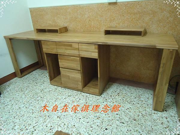 柚木雙人電腦桌(二)1.JPG