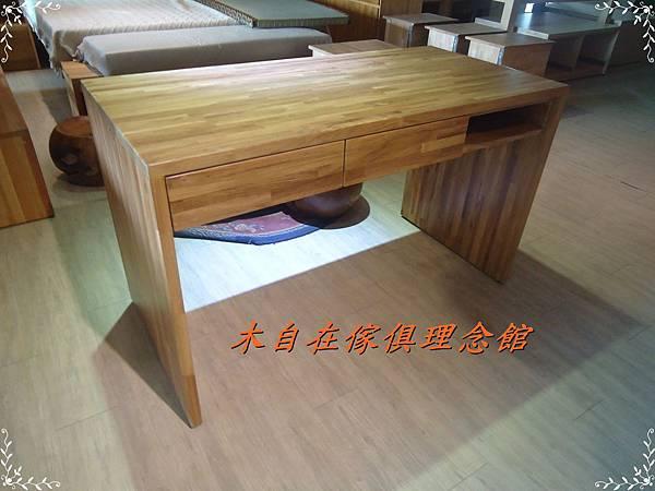 柚木兩抽單格書桌1.JPG