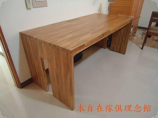 柚木H腳書桌1.JPG