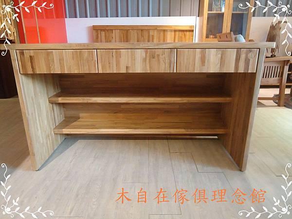柚木書桌3抽2層板1.JPG