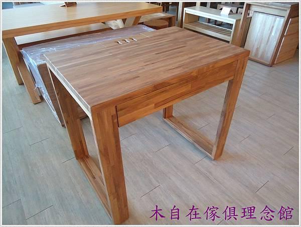 柚木框腳切齊書桌 1.JPG