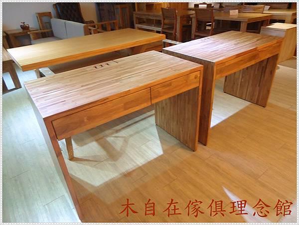 柚木單抽書桌含抽板 1.JPG