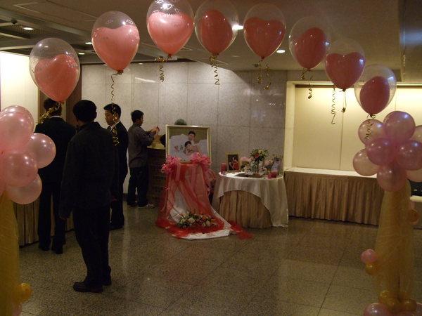 婚宴會場入口處